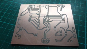 A CNC Isolation milled PCB creation (circuit) using the AutoLeveller